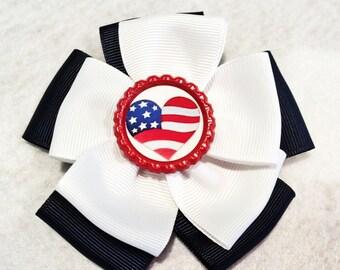 Patriotic Pinwheel bow