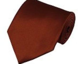 mens Cinnamon necktie custom made many colors