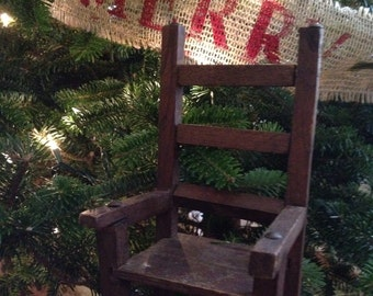 Old Wooden Dolls Chair / Vintage Small Wooden Chair
