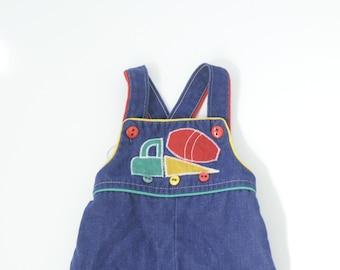 SALE: Vintage Health-Tex Denim Blue Overalls for Baby Boy 6 Mos