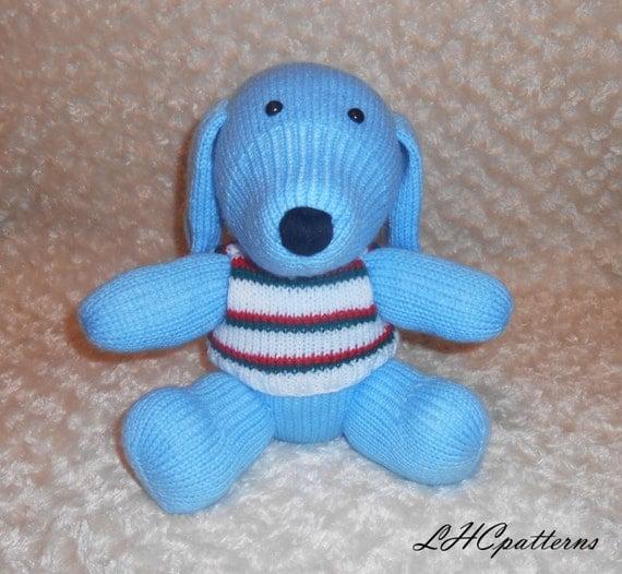Knitting Pattern Dog Toy : Dog Knitted Toy Pattern by LHCpatterns on Etsy