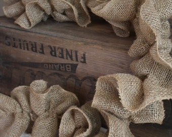 Burlap Ruffle Garland 5ft - New Colors Available!