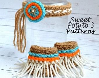 PATTERN Indian Headband - Crochet - Head Wear