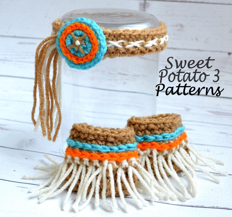 PATTERN Indian Headband Crochet Head Wear