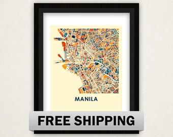 Manila Map Print - Full Color Map Poster