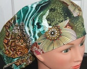 Beautiful Earthy Flowers Womens Ladies Bouffant Surgical Surgery Scrub Hat Cap