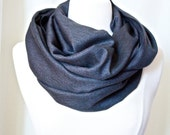 Infinity Scarf  Herringbone pattern in black and gray - Scarves for Men - Trending Items - Christmas Gifts for Him Fashion Accessories