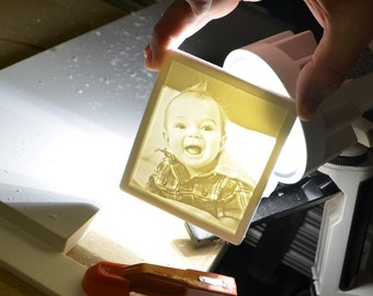 Baby Boy Nightlight   Custom Carving