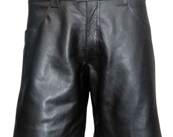 Leather Short With Four Pockets Custom Made To Order BSHN002