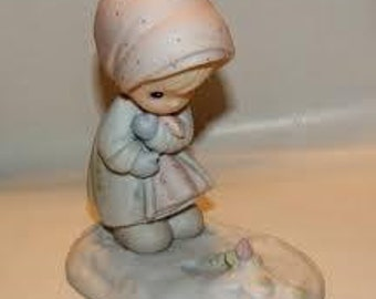 Precious Moments Collectible Figurine February 1987 Retro Home Decor