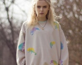 Hand Painted Chameleon Sweater
