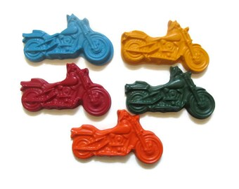 Motorcycle Crayons set of 5 - Party favors