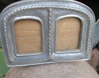 Mexican Pewter Double Frame