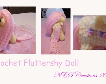 Crochet Fluttershy Doll- Made to Order