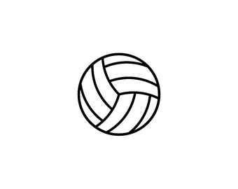 "Two 2x2"" Volleyball Vinyl Decals Pattern #2"