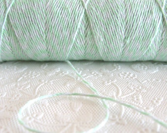 SALE ~ 100 Yard Spool Mint Green and White Baker's Twine | Cotton Twine | Mint Twine | Pretty Packaging