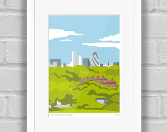 The City from South London - Limited Edition Art Poster/Print