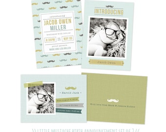 Birth Announcement Templates for photographers PSD Baby Announcement INSTANT DOWNLOAD
