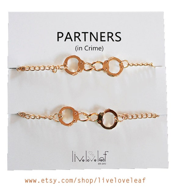 Set of 2 gold plated handcuffs bracelets for best friends aka for Good things to get my mom for christmas