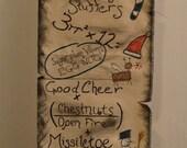 Disneyland Haunted Mansion Holiday Banner Door / Wall Hanging