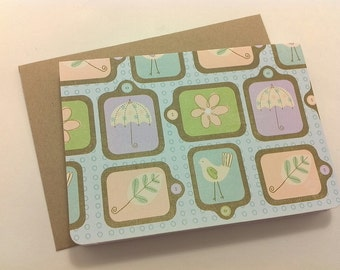 Baby blank note card set