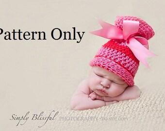 Newborn Crochet Pattern, Baby Crochet Pattern, Newborn Baby Sack Hat Pattern, Crochet Baby Hat Pattern, Crochet Pattern, Crochet Sack Hat