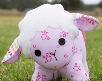 "Pattern ""BaaBaa Sheep"" Stuffed Toy, Soft Sculpture, Cloth Toy Sewing Pattern by Melly & Me (MM131)"