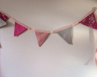 Garland 2 m grey and pink