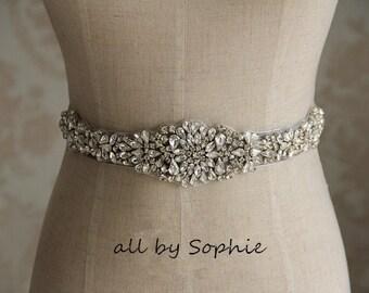 Free Shipping to USA rhinestone bridal applique,beaded applique, wedding crystal beaded sash, wedding accessories,beaded rhinestone applique