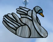 Swan Stained Glass Suncatcher