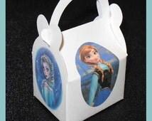anna elsa frozen party favor box,  frozen bithday favor box, frozen theme box, disney frozen favors