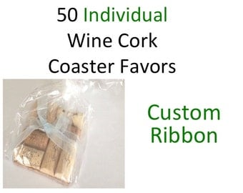 Wine Cork Wedding Favors - Wedding Party Favors - Engagement Party Favors - Wine Cork Coasters - Rustic Wedding Favors - Wine Lover - Favors
