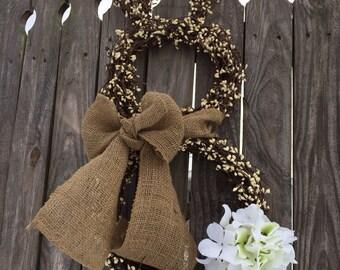 Easter Wreath, XL RUSTIC Bunny  Wreath, Spring Wreath, Easter Decoration