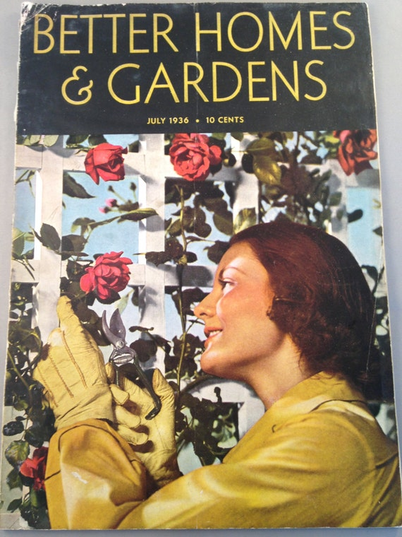 Vintage Better Homes And Garden Magazine July By