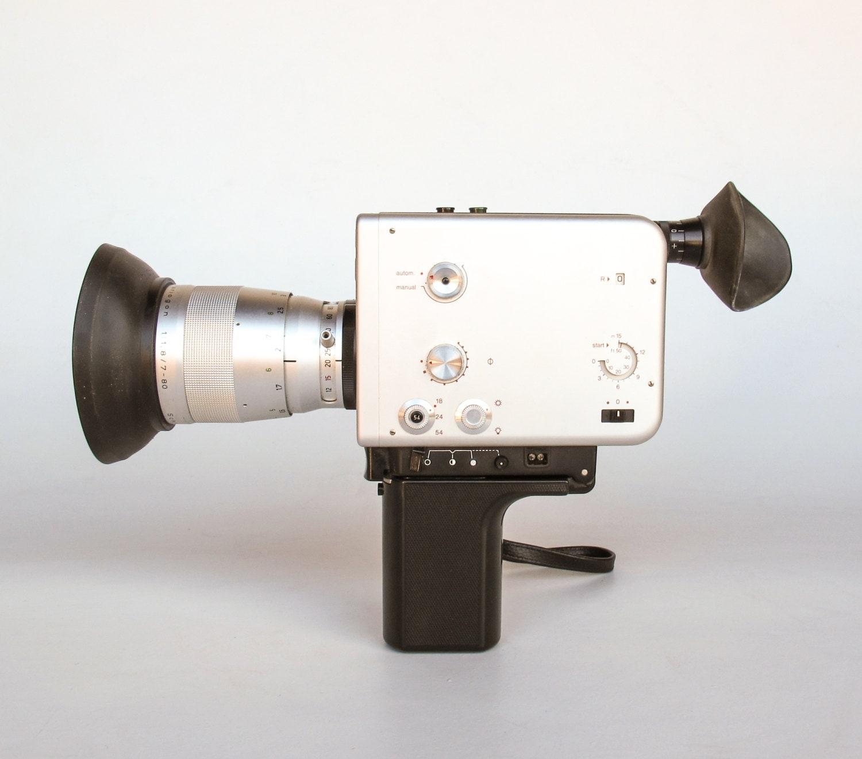 vintage super 8 fotocamera braun nizo s800 anni 60 macchina. Black Bedroom Furniture Sets. Home Design Ideas
