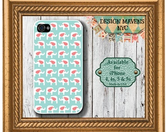 Cute Elephants iPhone Case, Elephant iPhone Case, iPhone 4, 4s, iPhone 5, 5s, iPhone 5c, iPhone 6, 6s, 6 Plus, Phone Cover, Phone Case