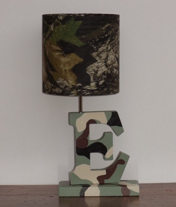 items similar to small mossy oak fabric drum lamp shade. Black Bedroom Furniture Sets. Home Design Ideas
