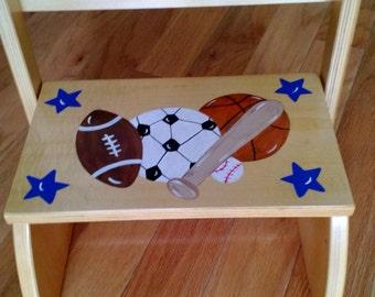 Personalized Sports Theme Stepstool
