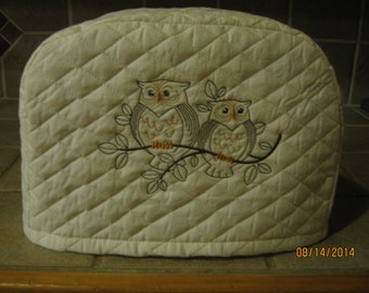 Toaster Cover 2 or 4 Slice, DUAL OWL DESIGN