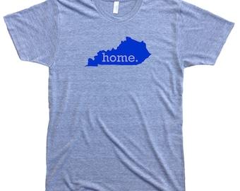 Homeland Tees Men's Kentucky Home T-shirt BLUE LOGO