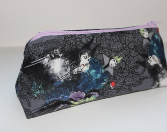 Disney Villain Zippered Pouch with Purple Zipper