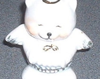 China Christmas Ornament White Polar Bear Angel 1980's