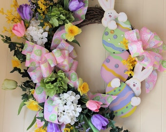 Easter Wreath, Spring Wreath, Bunny Wreath