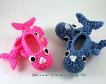 Little Whale Baby Booties