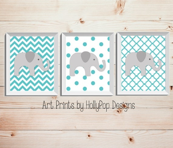 Nursery wall decor aqua gray neutral nursery by for Baby walls decoration