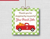 Red Truck Fall Birthday Favor Thank You Tags - Red Truck Theme Birthday Party - Digital Design or Handcrafted Tags - FREE SHIPPING