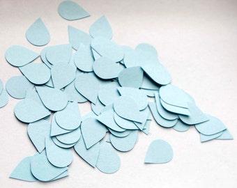 100 Water Drop Confett 1 inch - Light Blue