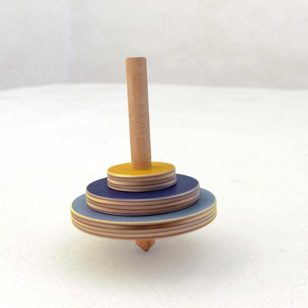 Wooden spinning top Custom order for by TheWanderingWorkshop