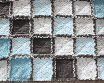 Baby Boy Rag Quilt, Rag Quilt, Baby Rag Quilt, Raggy Quilt, Baby Girl Rag Quilt, Baby Bedding, Crib Size Quilt, Baby Gift - Made to Order
