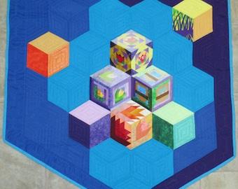 Floating Cubes Banner